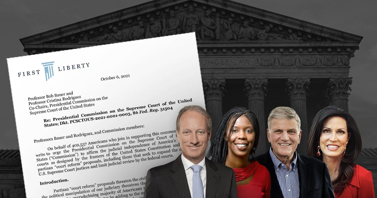 First Liberty & National Coalition of Nearly Half-Million Americans Reject Radical Court-Packing